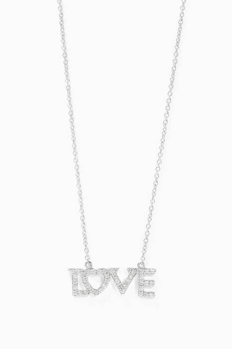 White-Gold Love Necklace