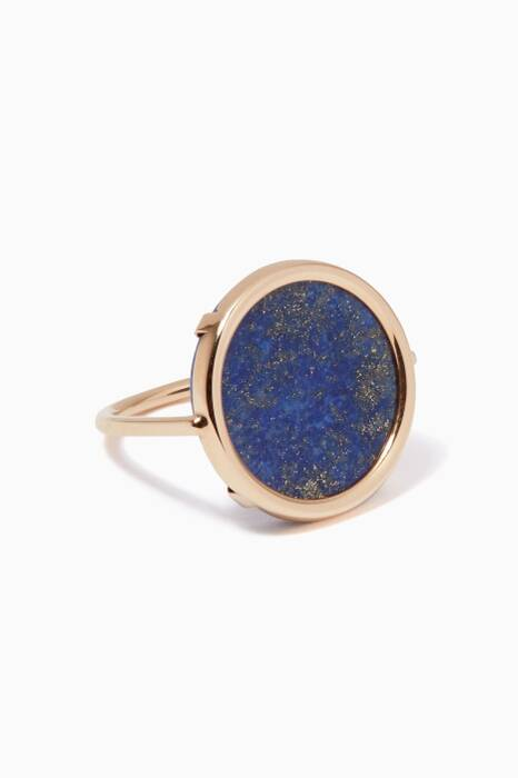 Gold & Lapis Ever Disc Ring