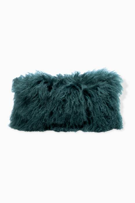Dark Green Tibetan Goat Cushion
