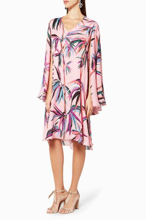 Pink Bamboo Printed Dress
