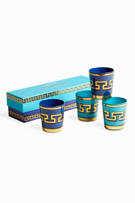 Blue Mykonos Glassware Set