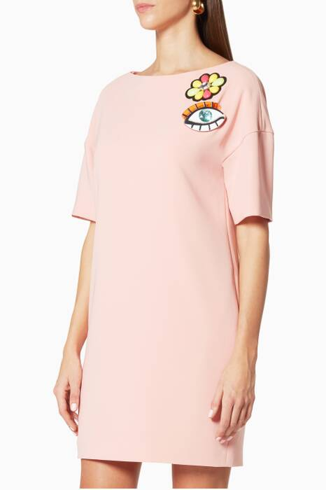 Light Pink Embroidered Crepe Dress