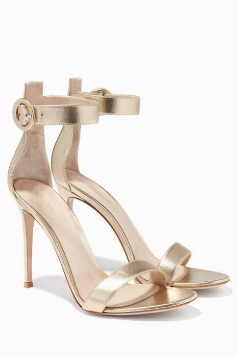 Gold Portofino Leather Sandals