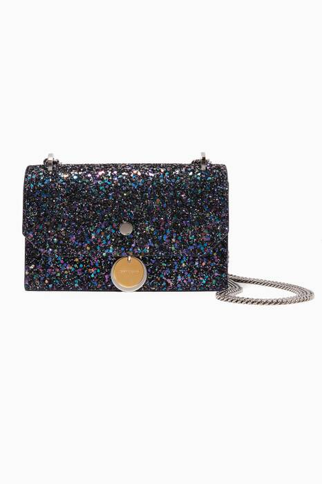 Blue Metallic Glitter Finley Cross-Body Bag