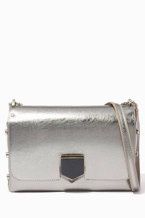 Vintage Silver Lockett City Leather Shoulder Bag