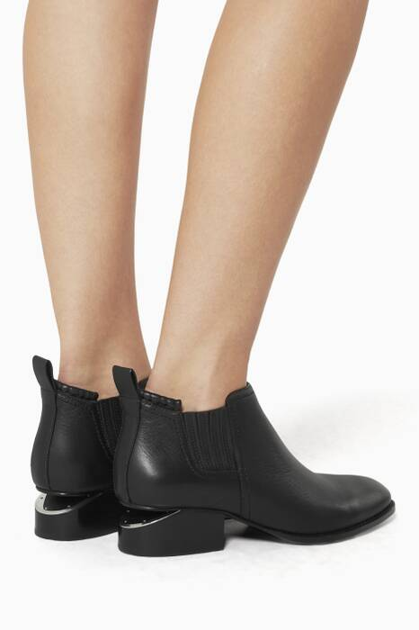 Black Kori Rhodium Ankle Boots