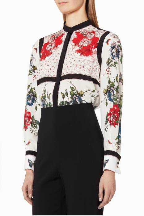 Multi-coloured Floral Printed Shirt