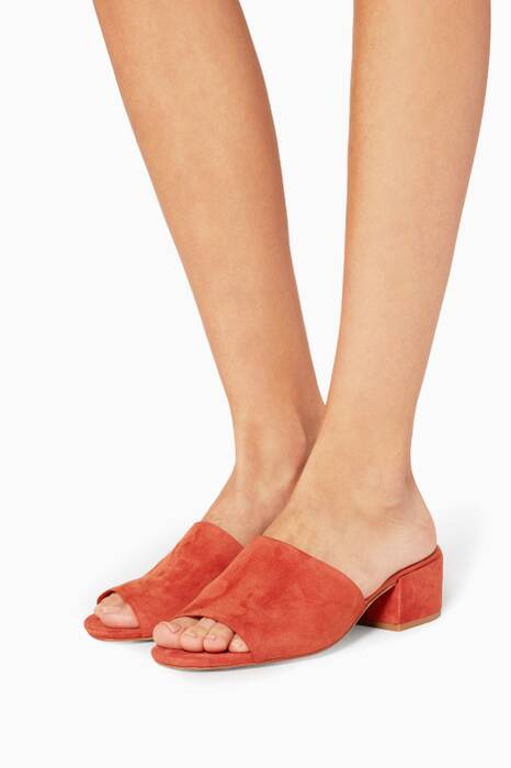 Orange Suede Rachelle Mules