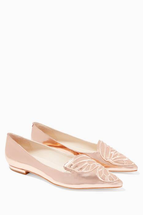Bibi Butterfly Rose-Gold Flats