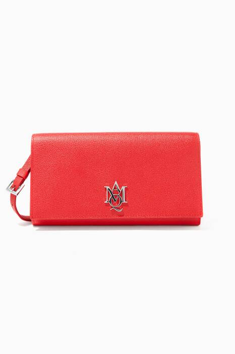 Red Insignia Clutch Shoulder Bag