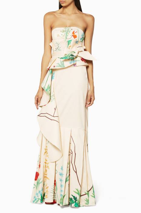Floral Hand-Embellished Domica Top and Belt