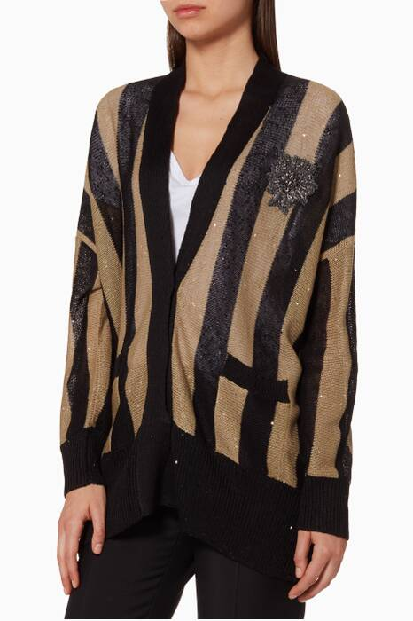 Black Knitted Cardigan