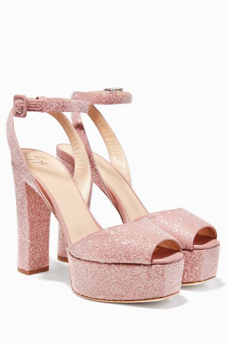 Light Pink Lavinia 80 Platform Sandals