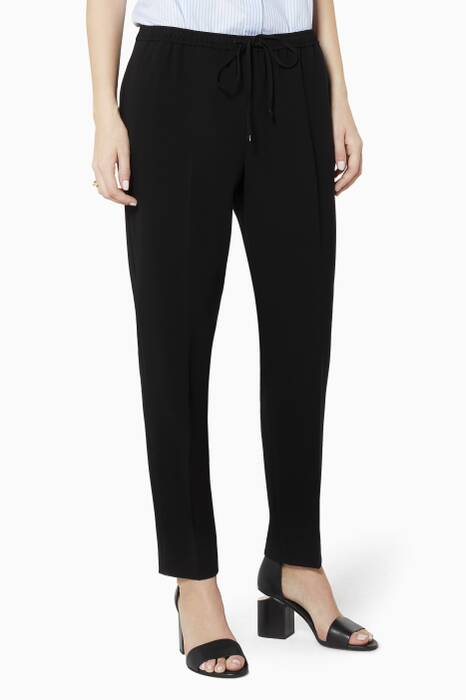 Black Tailored Track Pants