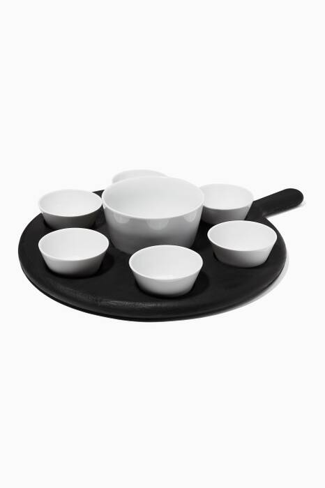 Paddle Tapas Set And Black Beech Paddle