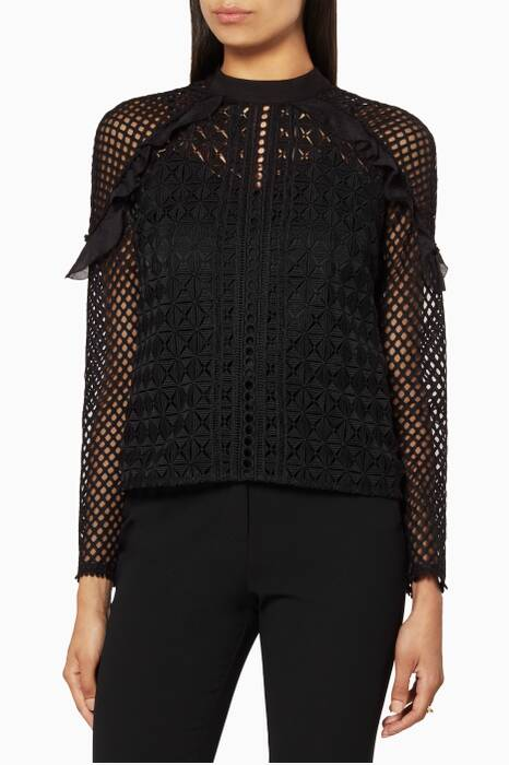 Black Geometric Top