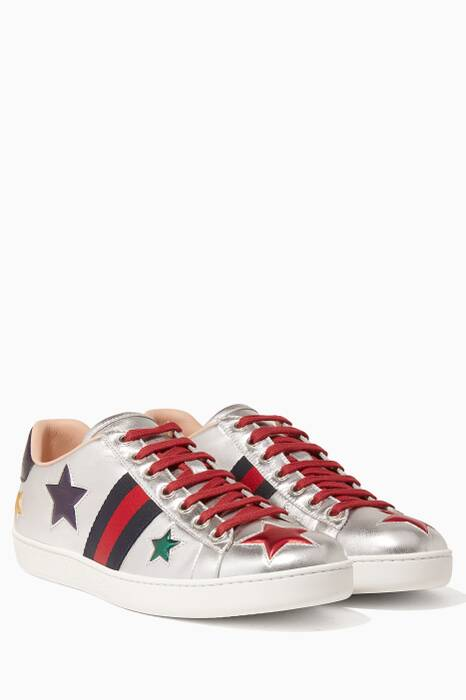 Silver Star Embellished Sneakers