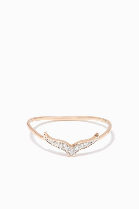 Rose-Gold & Diamond Wise Ring