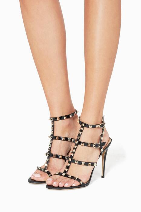 Nero Rockstud Leather Sandals