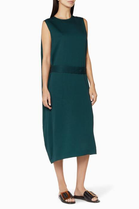 Dark Green Aspen Belted Dress