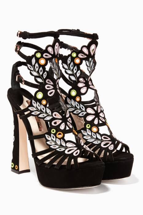 Black Liliana Platform Sandals