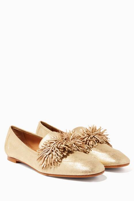 Gold Wild Loafers