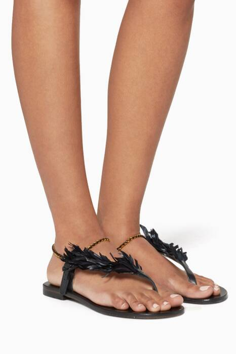 Black Andreina Sandals