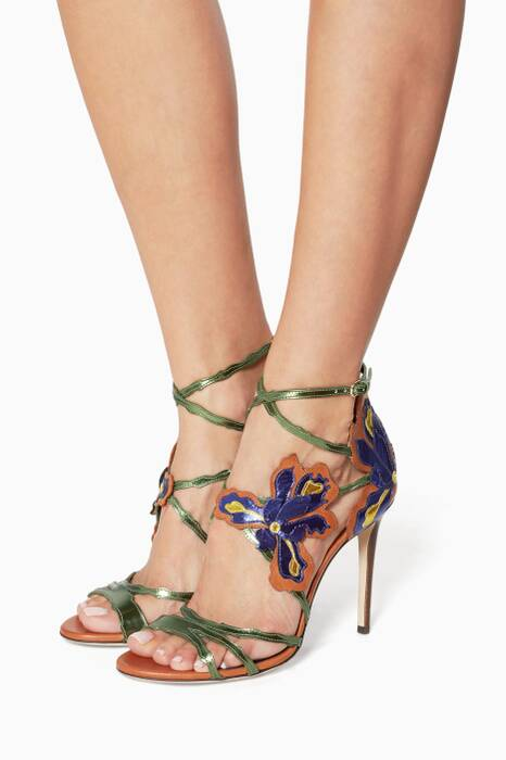 Canyon Mix Lolita Mirror Leather Sandals
