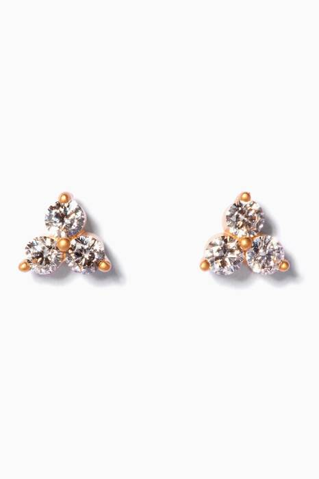 Yellow Gold & Troika Diamond Earrings
