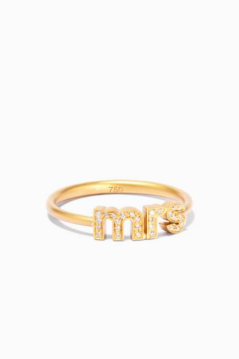 Gold And Diamond Mrs Ring