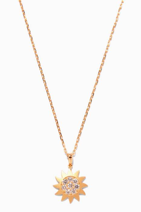 Yellow-Gold & Diamonds Star Necklace