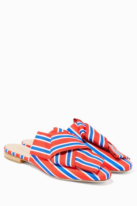 Red Libertina Bow Slippers