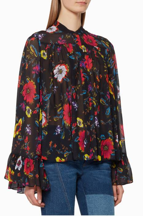 Multi-Coloured Floral Print Shirt