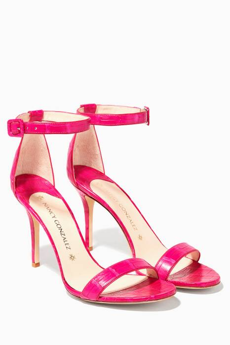 Pink Tina Crocodile Sandals