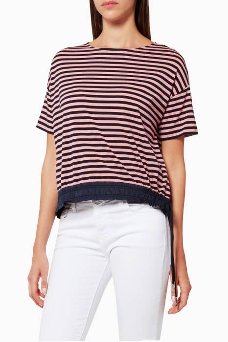 Pink & Black Striped Maglia Top