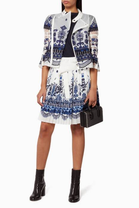 White Tribal Embroidered Jacket