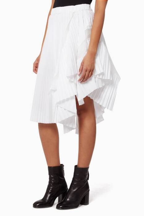 Black And White Classic Shirting Skirt