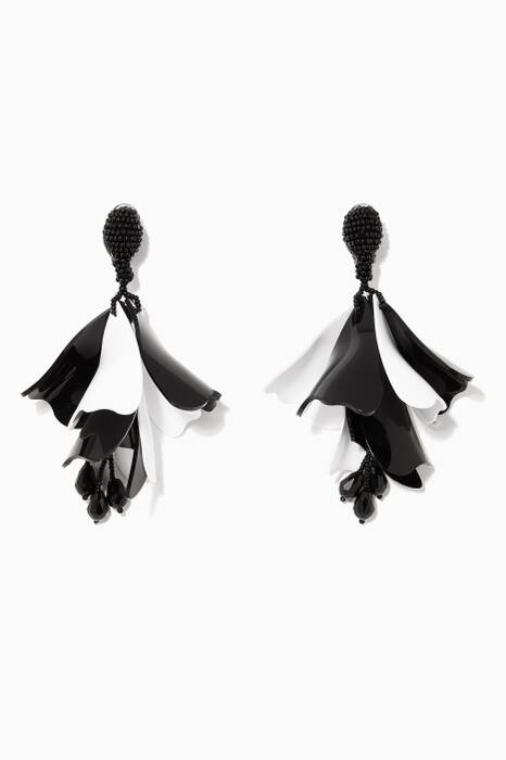 Monochrome Large Impatients Flower Earrings
