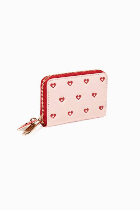 Pink Tally Zip-Around Wallet