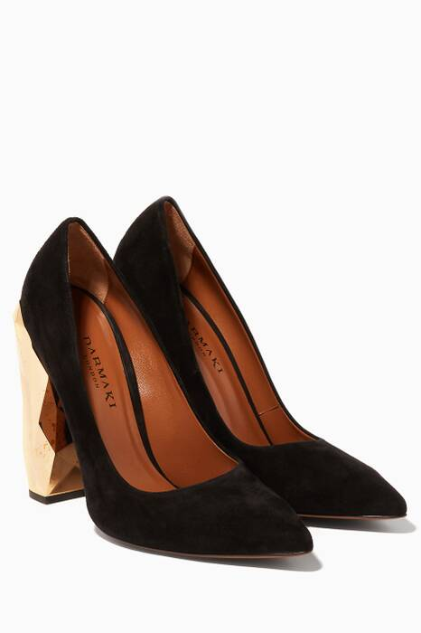 Black Chanda Luxe Pumps
