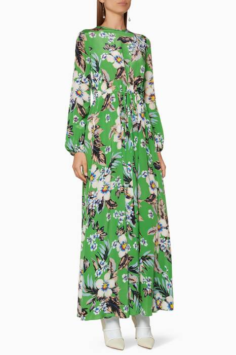 Green Printed Walden Maxi Dress