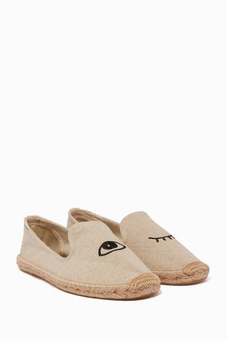 Sand Jason Polan Wink Espadrille Smoking Slippers