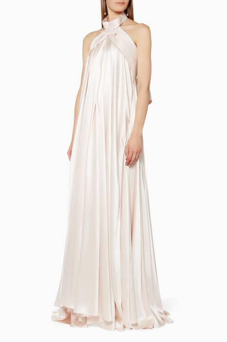 Blush Folded Boidice Gown
