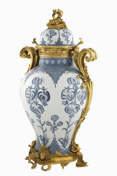 Blue And White Ceramic Armand Vase