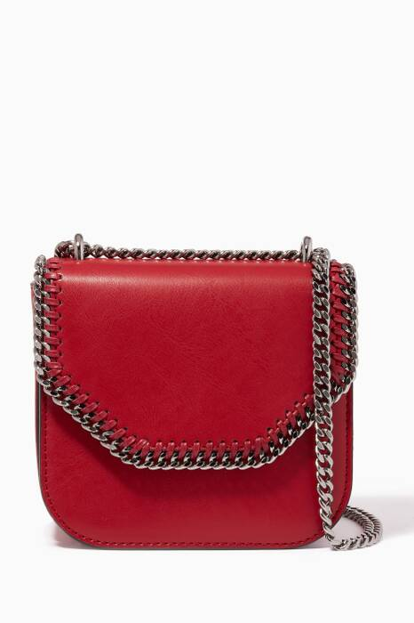 Burgundy Medium Falabella Box Shoulder Bag