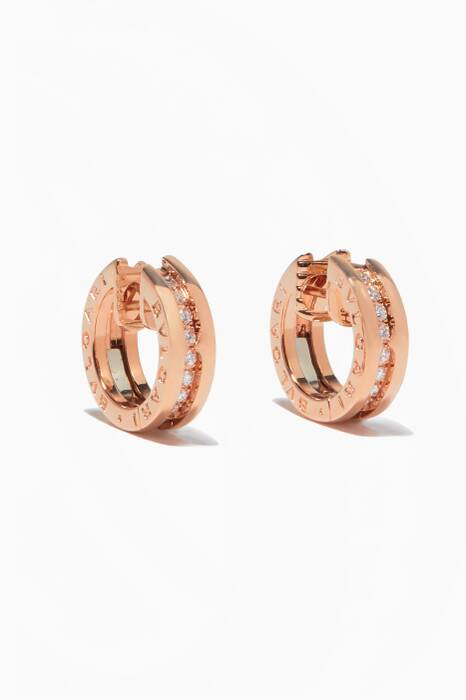 Rose-Gold & Diamond Pavé B.zero1 Small Earrings