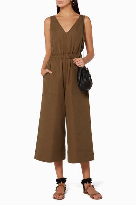 Dark Green Zoe Jumpsuit