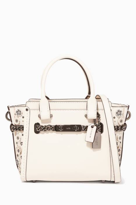 White Swagger Shoulder Bag 20