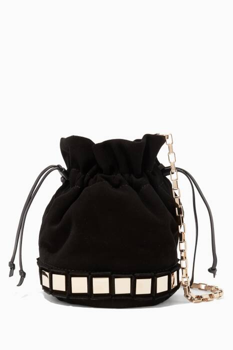 Black Small Lucile Bucket Bag