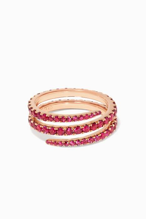 Ruby Coil Rose-Gold Ring